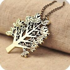 HOT!New clothes  Birds Letters Christmas Big Tree Pendant Long Necklace Chain
