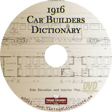 1916 Car Builders Dictionary { Rail Car Plans for Scratch Builders }  on DVD