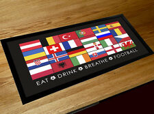Euro 2016 football flag Bar pub runner counter mat , fathers day gift