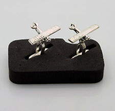 Spirit of St Louis Silver Plated Cufflinks. Clearance Price