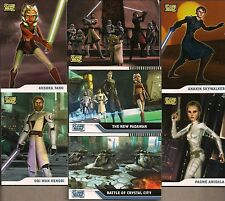 STAR WARS THE CLONE WARS CARTOON S1 TOPPS 2008 COMPLETE 90 CARD BASE SET + WRAP