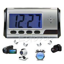 Digital Clock Spy Hidden Camera DVR USB Motion Alarm New Video Audio Recorder