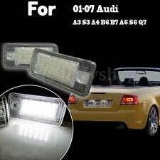 LED License Number Plate Light Lamp NO Canbus Error for Audi A3 A4 S4 B6 A6 Q7