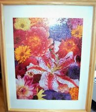 """Floral Puzzle Framed Picture 16X20"""""""
