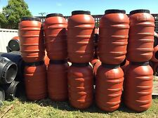 200 Litre Tan Food Grade Plastic Drums X 10