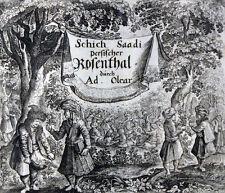 OLEARIUS PERSIANISCHER ROSENTHAL SCHEICH SAADI MUSLIH ED DIN PROVENIENZ 1660