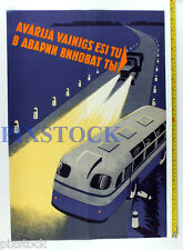 1950s Soviet Russia Original Russian POSTER TRAFFIC SAFETY ROAD ACCIDENT