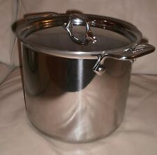 All Clad Tri Ply Stainless Steel 7 QT TALL Stock Pot & Lid   BRAND NEW   4507