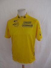 Maillot jaune de cyclisme vintage Crédit Lyonnais Nike Jaune Taille XL