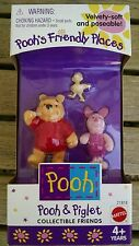 Pooh's Friendly Places Velvety Soft & Poseable Figures Set Collectible NIB!