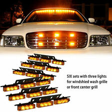 54X LED Emergency Vehicle Strobe Lights Bars Warning Deck Dash Grille Amber