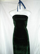 1 MTRS DARK GREEN  VELVET / VELOUR FABRIC TWO WAY STRECH 58INCHES WIDE