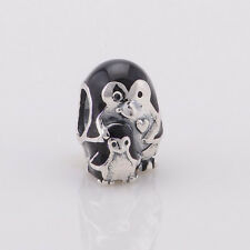 PENGUIN 925 Sterling Silver Solid European Charm Bead
