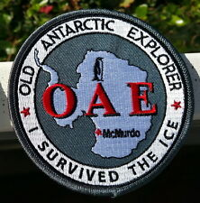 "Antarctica OAE 4"" Patch, Old Antarctic Explorer in Gray"