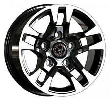 4x Wolfrace FTR Wheel Rim Gloss Polished Alloy Black Ford Transit 14+ ET50 5x160