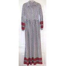 """Vintage 70s Long Floral Maxi Dress Lord & Taylor XS/S — 27"""" waist"""