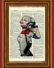 Harley Quinn Suicide Squad Dictionary Art Print Poster Picture Batman Comic