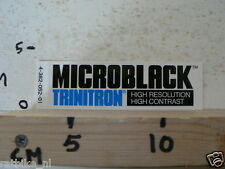 STICKER,DECAL MICROBLACK TRINITRON HIGH RESOLUTION HIGH CONTRAST
