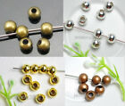 1000pcs Metal Charm Round Spacer Beads Jewelry Findings 3.2mm