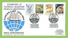 G.B. 1984 Greenwich Meridian set on Maritime Museum First Day Cover