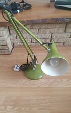 Vintage Anglepoise desk lamp in green retro industrial Herbert Terry