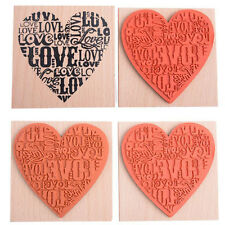 Wooden Rubber Love Heart Stamp For Diary Scrapbooking Card Making DIY Craft BD