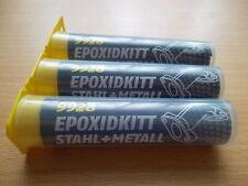 3xEpoxidkitt Stahl + Metall / Reparaturkitt Spachtelmasse,Kleber,Rissfüller 9928