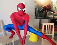 Red and Blue Lycra Zentai Full Body Spiderman Sexy Costume Catsuit S.M.L.XL.XXL