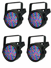 (4) Chauvet SlimPar 38 LED DMX Slim Par Can Stage Pro DJ RGB Lighting Effects