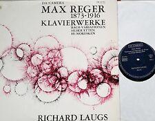 REGER Klavierwerke Bach-Variationen Silhouetten Humoresken Laugs LP SM 92073 NM