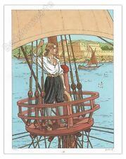 Affiche Juillard Plume aux Vents Bateau 400ex numérotée signée 40x50 cm