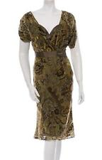 $1050 NEW JOHN GALLIANO DEVORE SEMI-SHEER VELVET DRESS 42 - 6