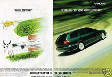 Publicité advertising 1998 (2 pages) Volvo S40 T4