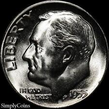 1955-S Roosevelt Dime ~ Bu Uncirculated ~ Luster! 90% Silver Us Coin