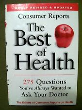 LOT OF 2 Consumer Reports The Best of Health (2001, 2011, Paperback)