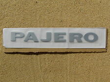 ~ MITSUBISHI PAJERO SILVER LETTER BADGE Emblem *NEW* Fender Guard or Rear