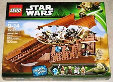 RETIRED Star Wars Lego 75020 JABBA'S SAIL BARGE Slave Leia 100% Complete w/ Box