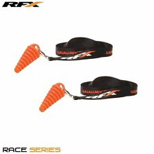 RFX DUAL TWIN EXHAUST SILENCERS WASH BUNGS HONDA CRF450R 2013 CRF250R 06-09
