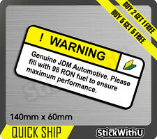 warning wakaba leaf 98 fuel Sticker Decal Vinyl JDM race Car drift Turbo 1V46