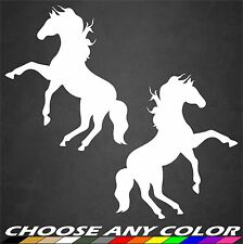Horse Standing Rearing Car Truck Window Sticker Decal Vinyl Graphics Colors