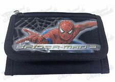 Marvel Spiderman Teen Boys Tri-Fold Wallet - Black