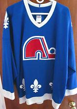 QUEBEC NORDIQUES vtg blue OG hockey jersey 2XL polyester XXL NHL CCM