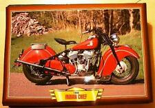 INDIAN CHIEF VINTAGE CLASSIC MOTORCYCLE BIKE 1940'S  PICTURE PRINT 1946