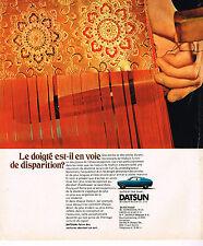PUBLICITE ADVERTISING 054  1973  DATSUN  120A COUPE