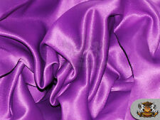 """Satin L'amour Solid Fabric BARNEY / 60"""" Wide / Sold by the yard"""