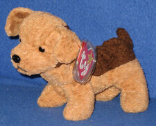 TY TUFFY the DOG BEANIE BABY - MINT with CREASE on TAG - SEE PICS