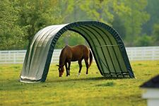 12x20x8 Round ShelterLogic Horse Run in Shed Animal Shelter Garage barn 51341