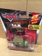 "DISNEY CARS DIECAST - ""Pit Crew Member Sarge"" - New 2015 Card - Combined Postage"
