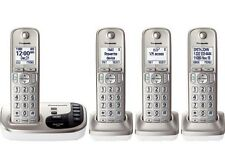 New Panasonic KX-TGD224N dect 6.0 with 4- Cordless Handset Landline Telephone