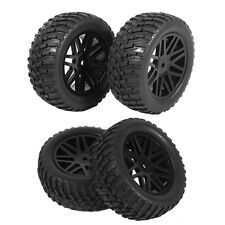 4pcs Rubber Tires Tyre & 12mm Hub Wheel Rims For HSP 1/10 RC Off-road Car Truck